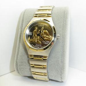 Womens Ladies California Quarter Gold Silver Watch